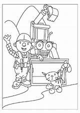 Builder Bob Coloring Scoop Dizzy Diligent Printables sketch template