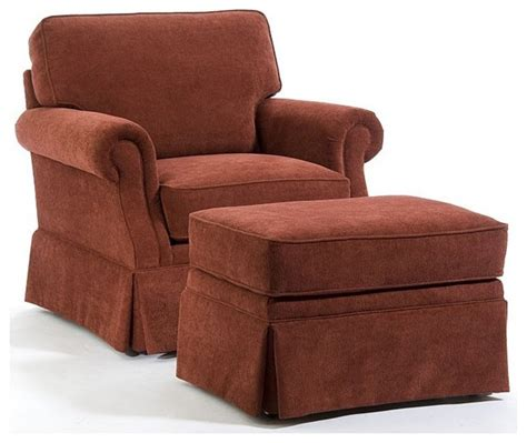 broyhill cinnamon chair and ottoman set 014573 0q
