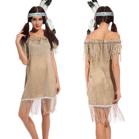 erwachsene damen indianer kost 252 m squaw wilder westen
