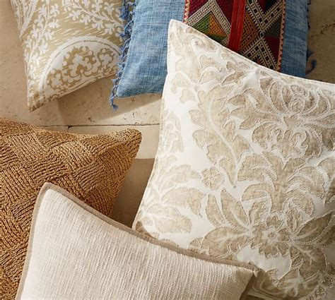 Snowflake Beaded Applique Pillow Cover Pottery Barn by Embroidered Pillow Cover Pottery Barn