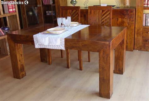 mesa de comedor en madera maciza de palisandro