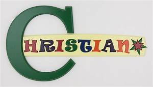 photo gallery of painted wooden name signs made by With alphabet letter name signs