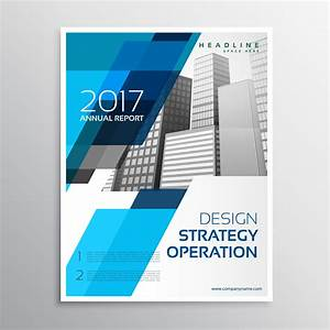 Stylish Blue Brochure Template Design