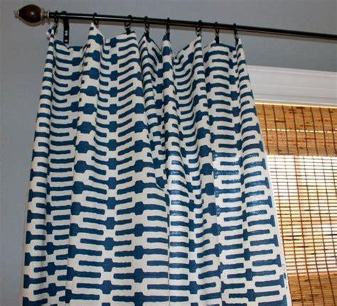 indigo blue and white geometric curtain panels custom
