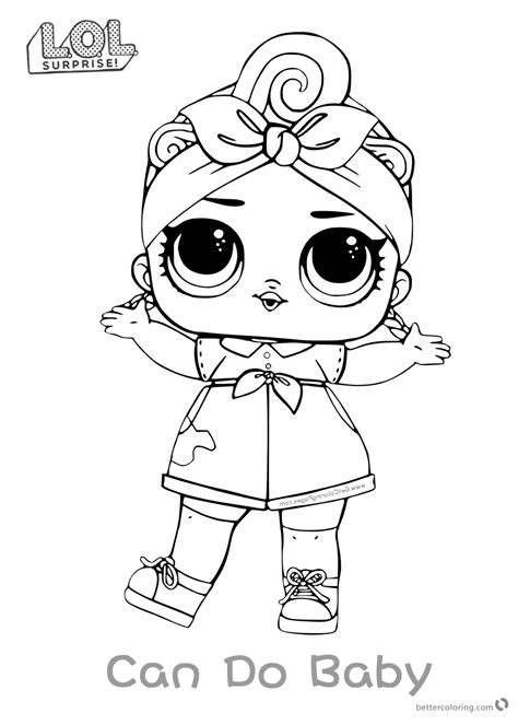 lol surprise doll coloring pages series    baby