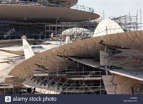 Nationalmuseum Katar In Doha by New Qatar National Museum In Doha Stock Photo Royalty