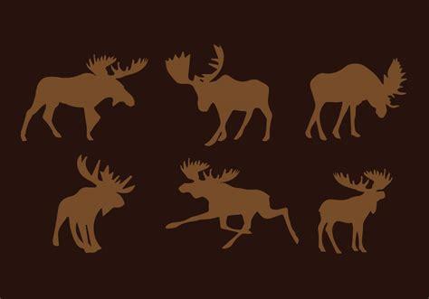 Moose Silhouette Vector Pack Download Free Vector Art