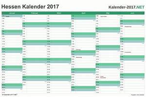Arbeitstage 2017 Berechnen : kalender 2017 hessen ~ Themetempest.com Abrechnung