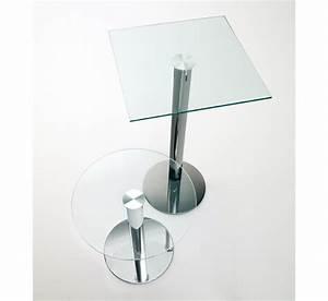 Petite Table En Verre : petite table en verre sis ~ Teatrodelosmanantiales.com Idées de Décoration