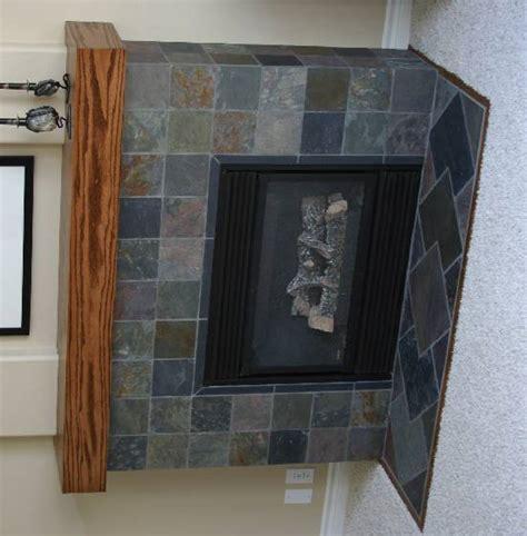 image of tile fireplace surround gary 39 s slate fireplace project ceramic tile advice