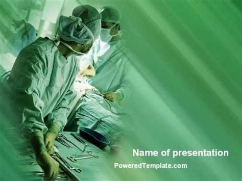 scrub nurse powerpoint template  poweredtemplatecom