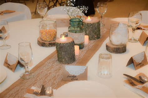 wedding table decor burlap and lace country wedding decorations plowing 1168