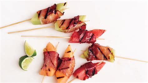 grilled prosciutto wrapped melon