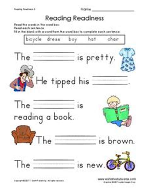 reading readiness worksheet for 1st grade lesson planet