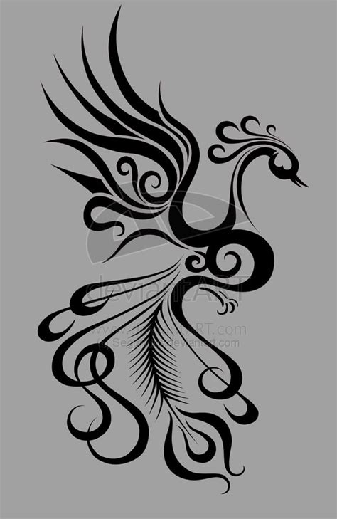 Pretty and incorporates feather and treble clef for additional meaning | Phoenix tattoo design