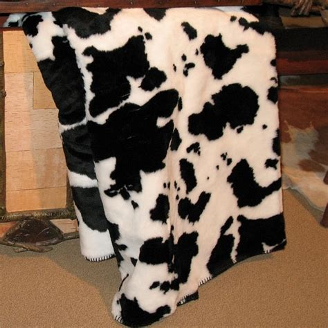 Cowhide Throw Blanket by Denali Cow Hide Microplush Throw Blanket