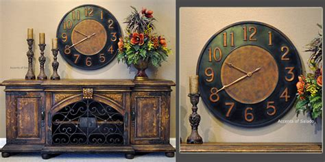 oversized decor tuscan wall decor old indies oversized clock