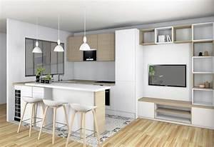 Cuisine ouverte sur sejour lyon valerie pinon decoration for Deco cuisine pour meuble sejour