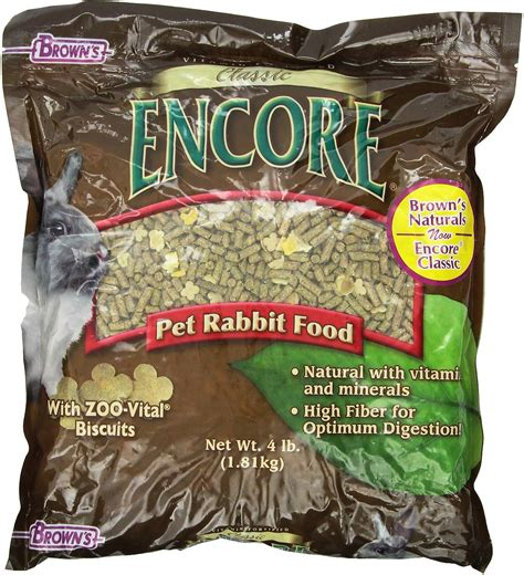 browns encore classic natural rabbit food  lb bag