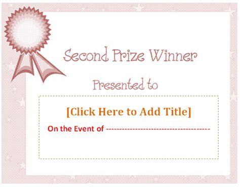 prize certificate template certificate templates