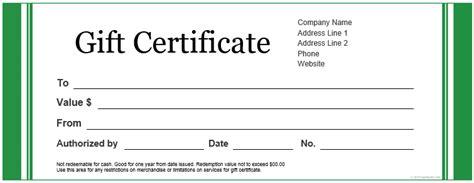 custom gift certificate templates  microsoft word