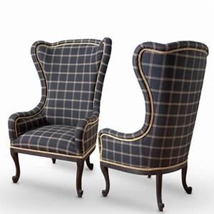 Fauteuil Haut Dossier : fauteuil baroque dossier haut appeal avec tartan ~ Teatrodelosmanantiales.com Idées de Décoration