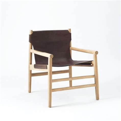 leather fur sling chair west elm seating