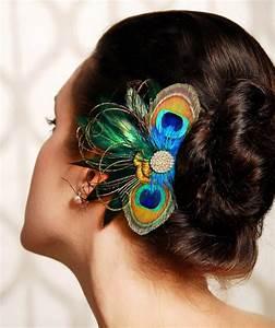 Peacock Feather Bridesmaid Hair Accessories Wedding
