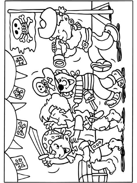 Piratenhoed Kleurplaat by Kleurplaat Piratenfeestje Feest Piratenfeestje