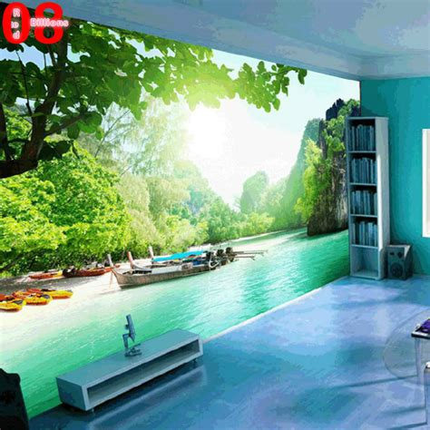 large custom any size mural tv wall sofa background wall landscape painting scenery waterproof