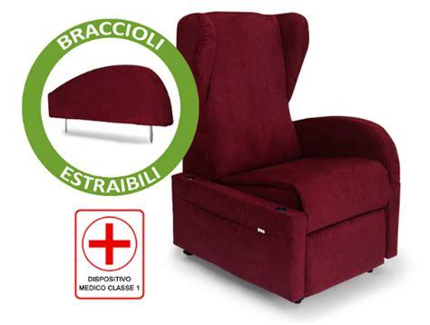 Poltrona Relax Per Anziani E Disabili Braccioli Removibili