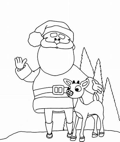 Coloring Christmas Pages Santa Preschool Preschoolers
