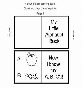 alphabet mini book learningenglish esl With printable alphabet book template