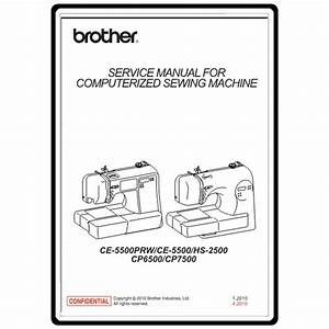 Service Manual  Brother Ce5500   Sewing Parts Online