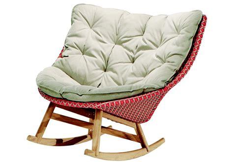 chaise rockincher mbrace dedon rocking chair milia shop