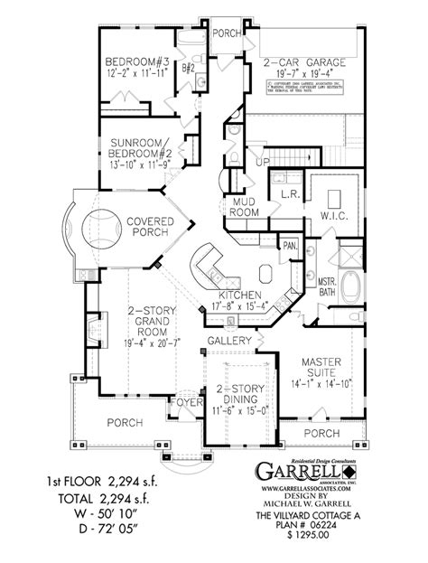 floor plan for duplex villyard cottage a house plan active house plans