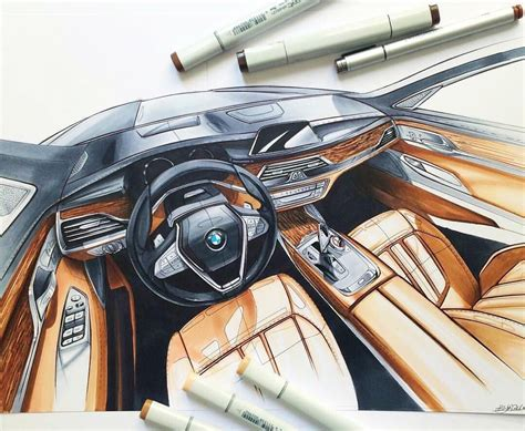 Bmw Interior Sketch