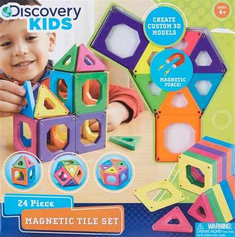 Discovery Channel Magnetic Tiles by Free Discovery Magnetic Building Tiles One Size