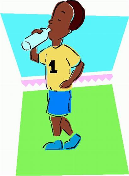 Drinking Water Clip Clipart Cliparts Cartoon Hydration