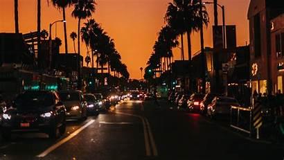 Street Cars Road Night Palm 4k Dark