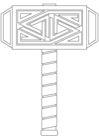 mjoelnir  hammer  thor coloring page  printable