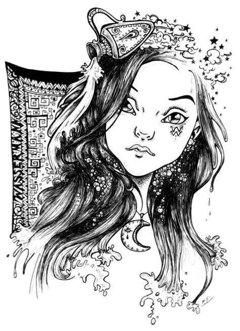 -Aquarius- by mirjaT.deviantart.com | Dibujos