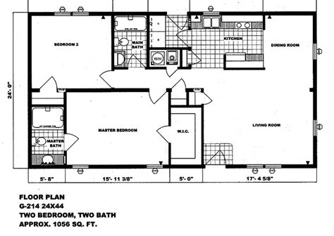 Double Wide Mobile Home Floor Plans Double Wide Mobile