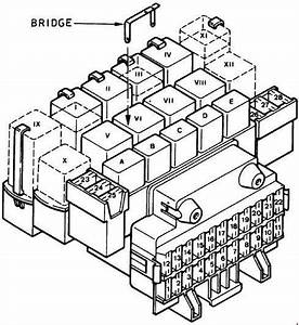 Ford Fiesta  1989 - 1997  - Fuse Box Diagram