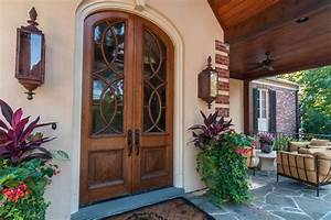 Front door planter ideas spaces traditional with arched