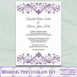 wisteria wedding invitation template diy lavender purple With diy wedding invitations reviews