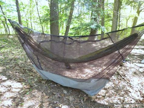 hammock mosquito net thermarest slacker hammock bug net review section hikers