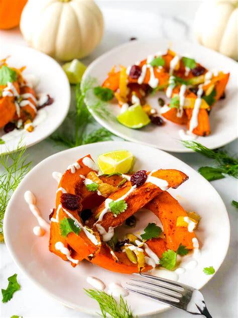 Roasted Red Kuri Squash Salad - Hummingbird Thyme