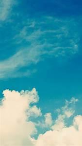 White Vintage Clouds Blu Sky iPhone 6 Plus HD Wallpaper ...