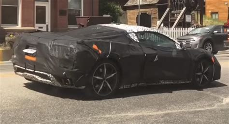 Two Corvette C8 Prototypes Caught Playing Tag With A New